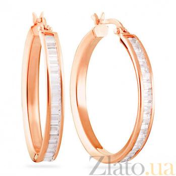 Золотые серьги с цирконием Мириам SUF--102668