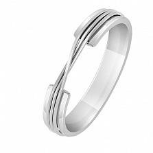 Кольцо из белого золота Проволока