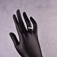 Серебряное кольцо Фиеста с кристаллами циркония