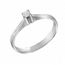 Кольцо из белого золота Лаверн с бриллиантом