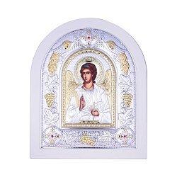 Посеребренная икона Ангел Хранитель на подставке 000131793