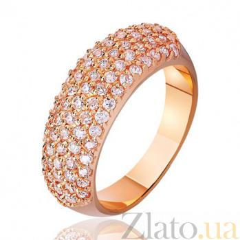 Золотое кольцо Блик с фианитами EDM--КД0292
