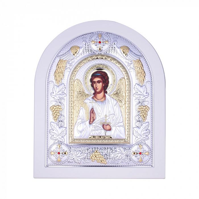 Посеребренная икона Ангел Хранитель на подставке 000131793 000131793