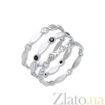 Серебряное кольцо с куб. цирконом  AQA-218550041