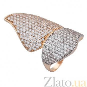 Золотое кольцо с фианитами Баттерфляй ONX--к01292
