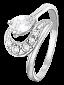 Серебряное кольцо с фианитами Париса 000025760