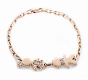 Золотой браслет Любимая мамочка с фигурками детей в бриллиантах
