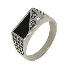 Серебряное кольцо с цирконием Джин