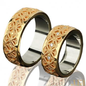 Золотое обручальное кольцо Ренессанс 000010198