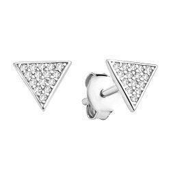 Серебряные пуссеты с цирконием 000106905