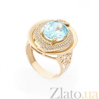Дизайнерский перстень Будапешт с узорным кастом и фианитами 000082314