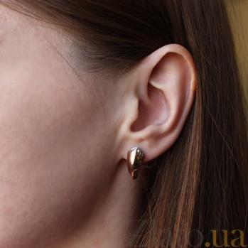 Золотые серьги с декором Анита TNG--470376