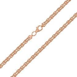 Золотая цепь фантазийного двойного плетения в красном цвете, 4мм 000088558