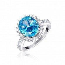 Серебряное кольцо с фианитами Каролин