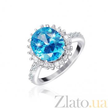 Серебряное кольцо с фианитами Каролин 000025474