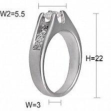 Кольцо из белого золота Магдала с бриллиантами