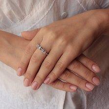 Серебряное кольцо Комплимент с подвижными деталями в усыпке фианитов