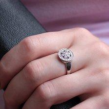 Кольцо из серебра Диана с фианитами
