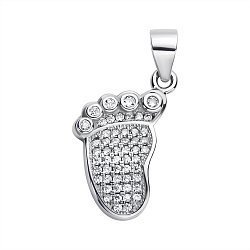 Серебряная подвеска с усыпкой фианитов 000117994