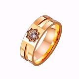 Золотое обручальное кольцо Услада сердца с фианитом