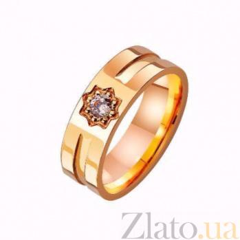 Золотое обручальное кольцо Услада сердца с фианитом TRF--4121291