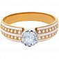 Золотое кольцо с бриллиантами и эмалью Delight 000029377