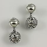 Серебряные серьги Бриолина