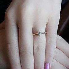 Золотое кольцо Альмира с цирконием