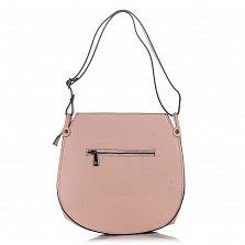Сумка на каждый день из кожи и замши Genuine Leather 8607 розового цвета на молнии