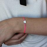Шелковый браслет My Love с серебряной вставкой-сердцем