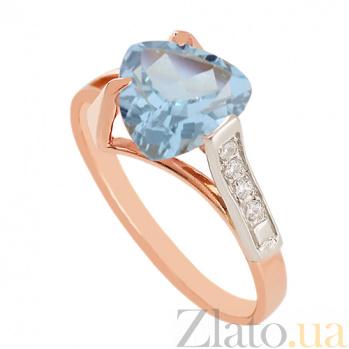 Золотое кольцо с топазом и фианитами Ингеборга VLN--112-643-1