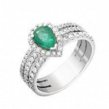 Золотое кольцо Эсмеральда с изумрудом и бриллиантами