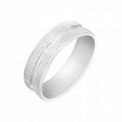 Серебряное обручальное кольцо 000093685