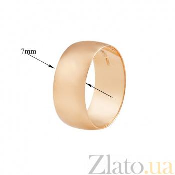 Золотое обручальное кольцо широкое Classic 000001621