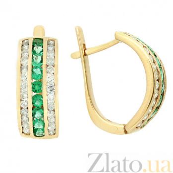Золотые серьги с бриллиантами и изумрудами Биркан ZMX--EE-6119y_K