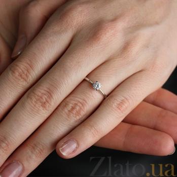 Кольцо из белого золота с бриллиантом Ирэн VLA--17029