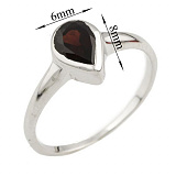 Серебряное кольцо Лаванья с гранатом