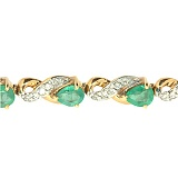 Золотой браслет с бриллиантами и изумрудами Милана
