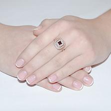 Золотое кольцо с гранатом Роксана