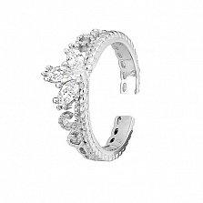 Серебряное кольцо с фианитами Прекрасная тиара