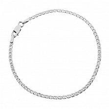 Серебряный браслет Киан с родированием, 2 мм