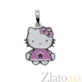 Кулон серебряный Hello Kitty AQA--3671э