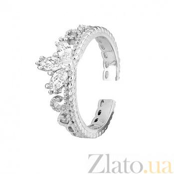 Серебряное кольцо с фианитами Прекрасная тиара 000028079