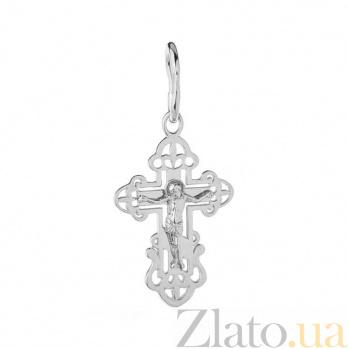 Крест из белого золота Молитва SUF--501511б