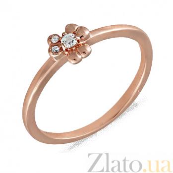 Золотое кольцо с фианитами Боувардия 000022883