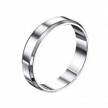 Обручальное кольцо Вечная любовь серебряное