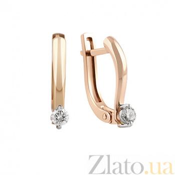 Серьги из красного золота с бриллиантами Селина KBL--С2492/крас/брил
