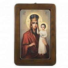 Икона на деревянной основе Божья Матерь с цветной эмалью, 21х28