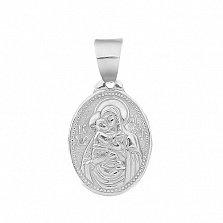 Серебряная ладанка Богородица 18*13