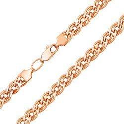 Цепочка из красного золота в плетении нонна 000136212